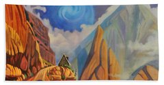 Bath Towel featuring the painting Cliff House by Art James West