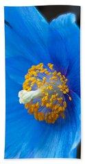Blue Poppy Bath Towel