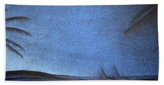 Bath Towel featuring the drawing Blue Pyramid by Mayhem Mediums