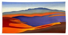 Blue Ridge Mountains East Fall Art Abstract Bath Towel