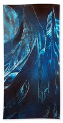 Blue Satin Hand Towel