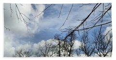 Bath Towel featuring the photograph Blue Skies Of Winter by Robyn King