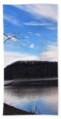 Blue Skies Over Beech Fork Lake Hand Towel