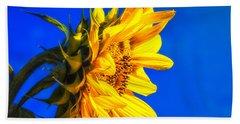 Blue Sky Sunshine Sunflower Hand Towel