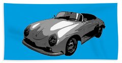 Blue Speedster Hand Towel by J Anthony