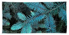 Hand Towel featuring the photograph Blue Spruce by Daniel Thompson