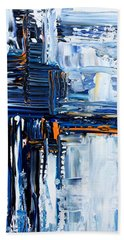 Hand Towel featuring the painting Blue Thunder by Rebecca Davis