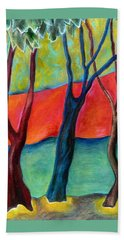 Blue Tree 2 Hand Towel