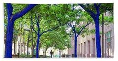 Blue Tree Walkway Bath Towel by Mary Lee Dereske