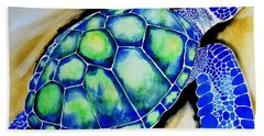 Blue Turtle Hand Towel