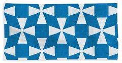 Blue Twirl Hand Towel