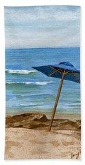 Blue Umbrella Hand Towel