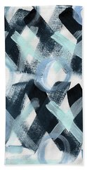 Blue Valentine- Abstract Painting Bath Towel