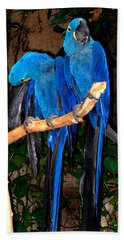 Blue Velvet Hand Towel