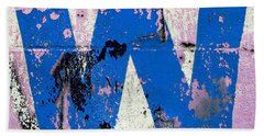 Hand Towel featuring the photograph Blue W by Ethna Gillespie
