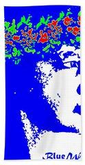 Hand Towel featuring the photograph Blue Wahine by Lehua Pekelo-Stearns