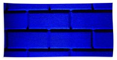 Blue Wall Hand Towel by Semmick Photo