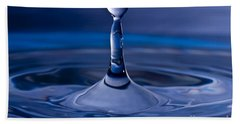 Blue Water Drop Bath Towel