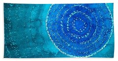 Blue World Original Painting Hand Towel
