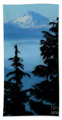 Blue Yonder Mountain Bath Towel by Susan Garren
