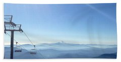 Blue Yonder Bath Towel by Susan Garren