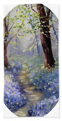 Bluebell Wood Bath Towel by Meaghan Troup