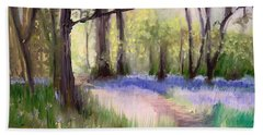 Bluebells At Dusk Hand Towel