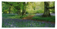 Bluebells In A Forest, Thorp Perrow Bath Towel