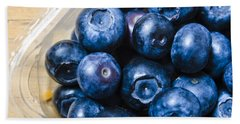 Blueberries Punnet Hand Towel by Jorgo Photography - Wall Art Gallery