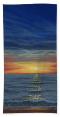 Blueberry Beach Sunset Bath Towel