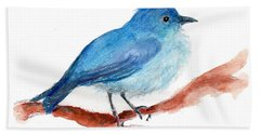 Bath Towel featuring the painting Bluebird by C Sitton