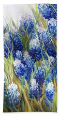 Bluebonnet Barrage  Hand Towel