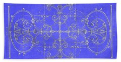 Hand Towel featuring the photograph Blueprint Maltese Cross by Suzanne Powers