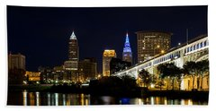 Blues In Cleveland Ohio Hand Towel by Dale Kincaid