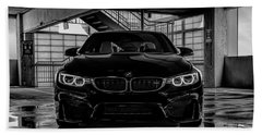 Bath Towel featuring the digital art Bmw M4 by Douglas Pittman