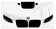 Bmw White Hand Towel by J Anthony