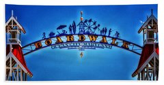 Boardwalk Arch In Ocean City Bath Towel