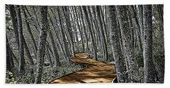 Boardwalk In The Woods Bath Towel