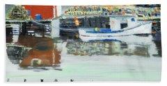 Boat At Louisburg Ns Hand Towel
