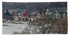 Philadelphia's Boat House Row  Hand Towel by Cindy Manero