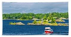 Boat On Georgian Bay Hand Towel
