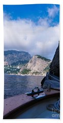 Bath Towel featuring the photograph Boat Ride To Capri by Mike Ste Marie
