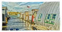 Boathouse Alley Hand Towel by William Norton