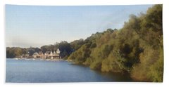 Bath Towel featuring the photograph Boathouse by Photographic Arts And Design Studio