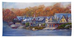 Boathouse Row In Philadelphia Hand Towel