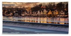 Boathouse Row Philadelphia Pa Hand Towel by Susan Candelario