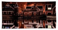 Boathouse Row Reflection Hand Towel