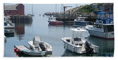 Bath Towel featuring the photograph Boats On The Water by Eunice Miller