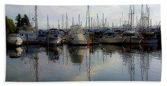 Bath Towel featuring the photograph Boats At Marina On Liberty Bay by Greg Reed