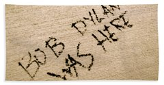 Bob Dylan Graffiti Bath Towel